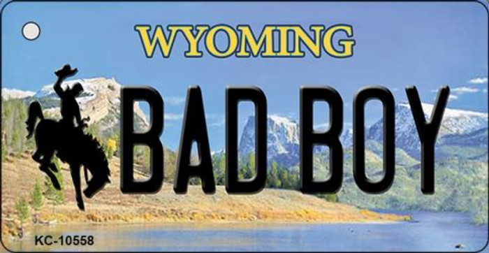 Bad Boy Wyoming State License Plate Key Chain KC-10558