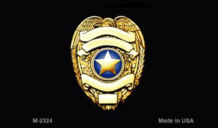 Police Badge Novelty Magnet M-2324