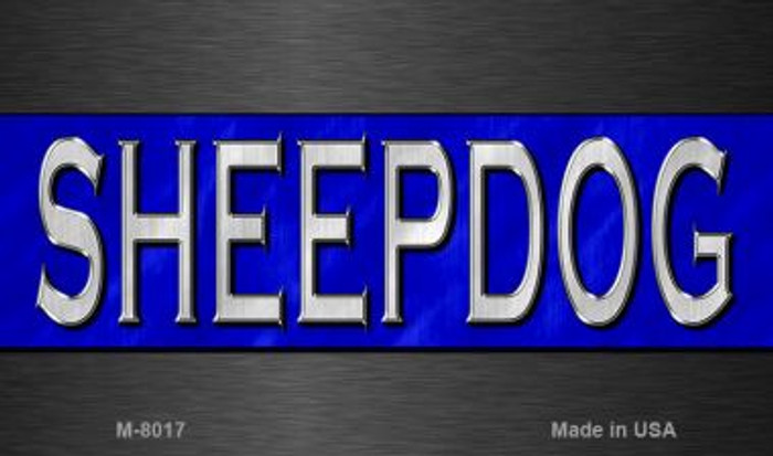 Sheepdog Police Novelty Magnet M-8017