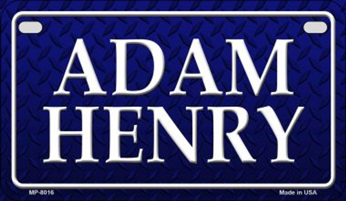 Adam Henry Novelty Motorcycle License Plate MP-8016