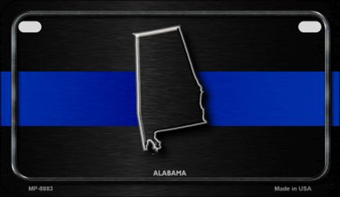 Alabama Thin Blue Line Novelty Motorcycle License Plate MP-8883
