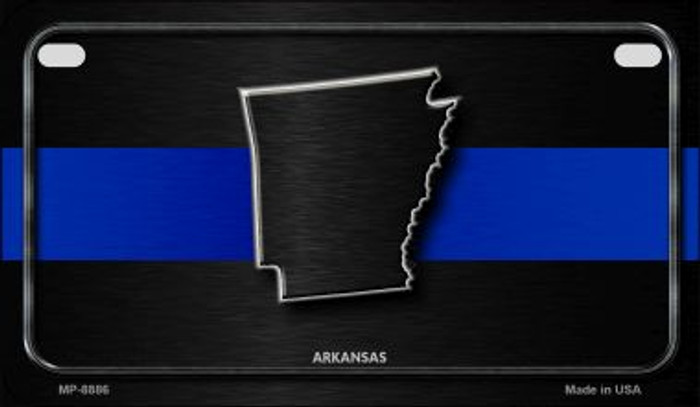 Arkansas Thin Blue Line Novelty Motorcycle License Plate MP-8886