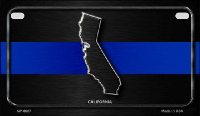 California Thin Blue Line Novelty Motorcycle License Plate MP-8887