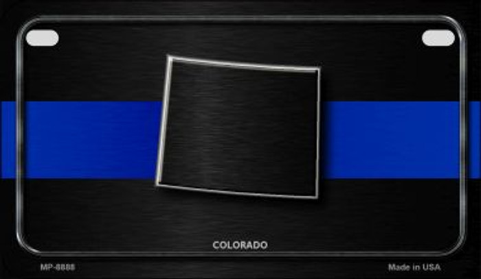 Colorado Thin Blue Line Novelty Motorcycle License Plate MP-8888