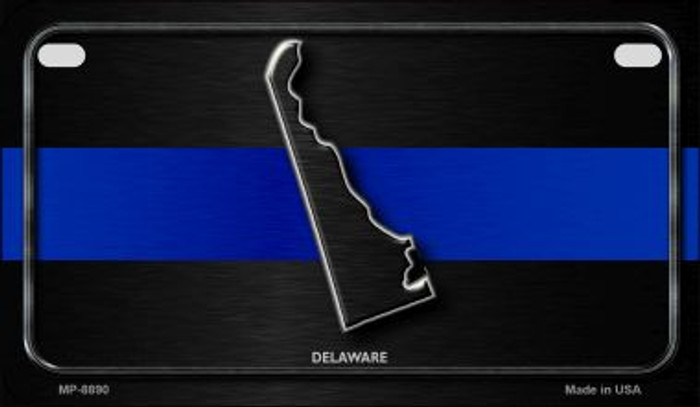 Delaware Thin Blue Line Novelty Motorcycle License Plate MP-8890