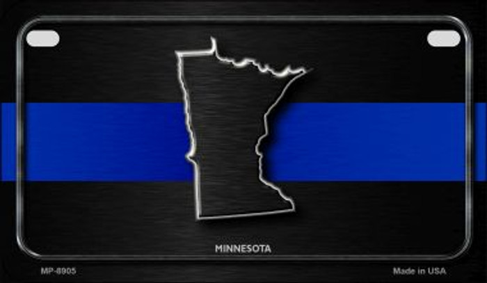 Minnesota Thin Blue Line Novelty Motorcycle License Plate MP-8905