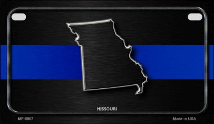 Missouri Thin Blue Line Novelty Motorcycle License Plate MP-8907