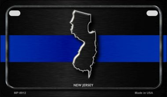 New Jersey Thin Blue Line Novelty Motorcycle License Plate MP-8912