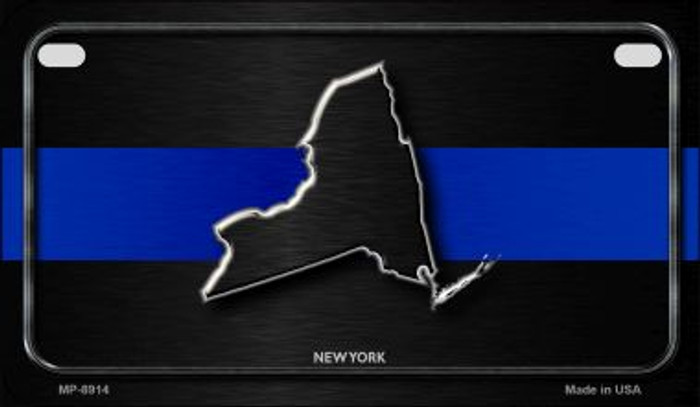 New York Thin Blue Line Novelty Motorcycle License Plate MP-8914