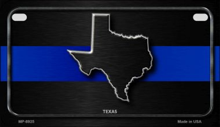 Texas Thin Blue Line Wholesale Metal Novelty Wall Decor License Plate