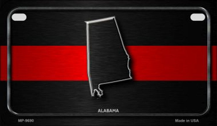 Alabama Thin Red Line Novelty Motorcycle License Plate MP-9690