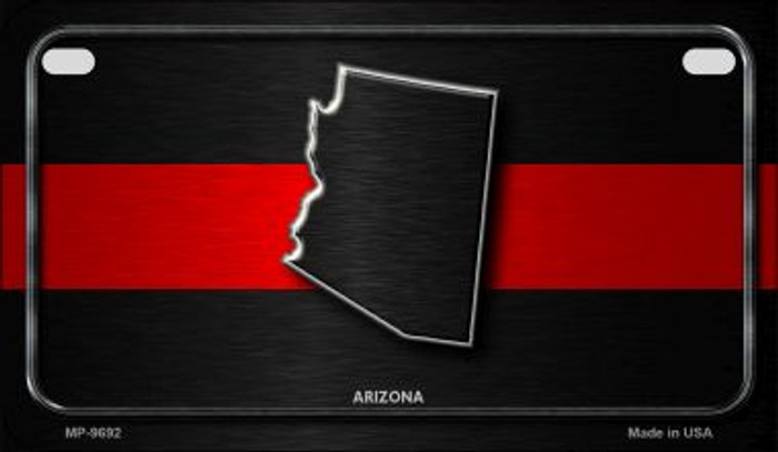 Arizona Thin Red Line Novelty Motorcycle License Plate MP-9692