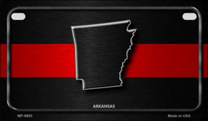 Arkansas Thin Red Line Novelty Motorcycle License Plate MP-9693