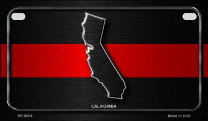 California Thin Red Line Novelty Motorcycle License Plate MP-9694