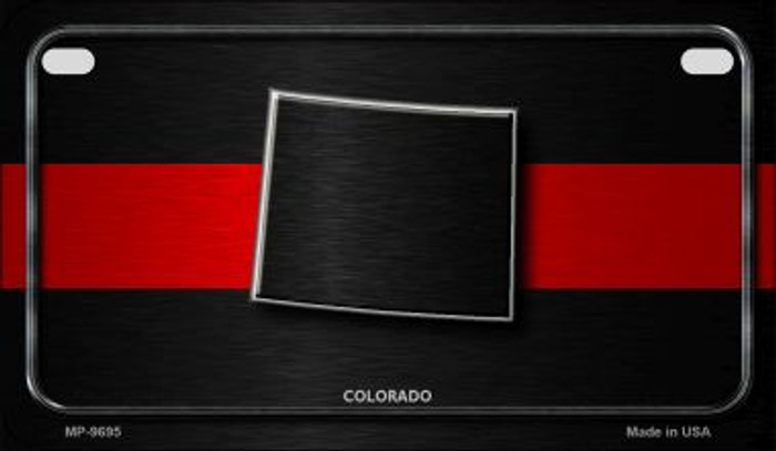 Colorado Thin Red Line Novelty Motorcycle License Plate MP-9695