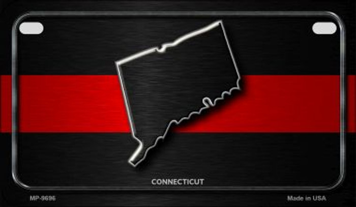 Connecticut Thin Red Line Novelty Motorcycle License Plate MP-9696