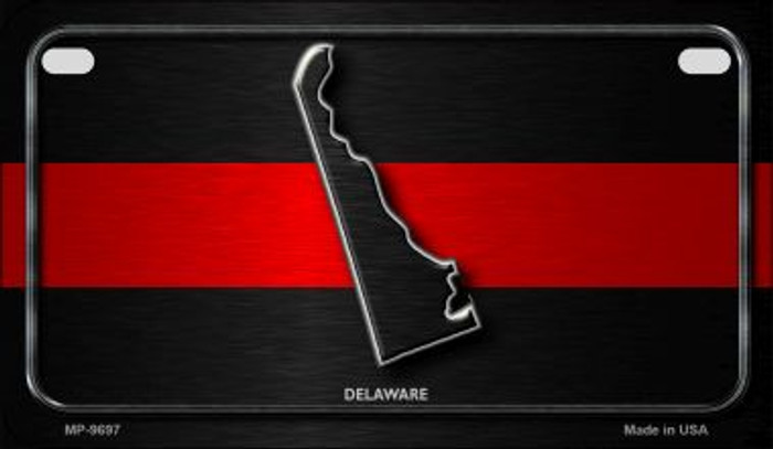 Delaware Thin Red Line Novelty Motorcycle License Plate MP-9697