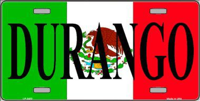 Durango Metal Novelty License Plate LP-3432