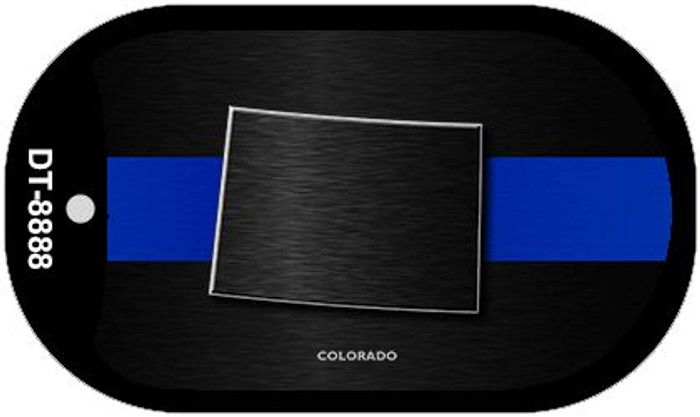 Colorado Thin Blue Line Novelty Dog Tag Necklace DT-8888