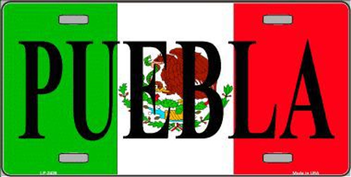Puebla Metal Novelty License Plate LP-3436