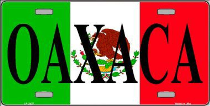 Oaxaca Metal Novelty License Plate LP-3437