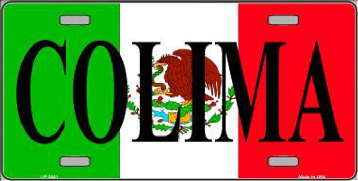 Colima Metal Novelty License Plate LP-3441