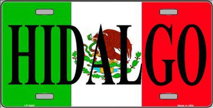 Hidalgo Metal Novelty License Plate LP-3442