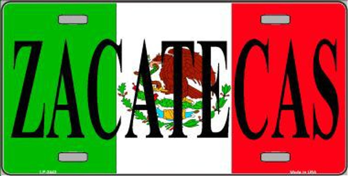 Zacatecas Metal Novelty License Plate LP-3443