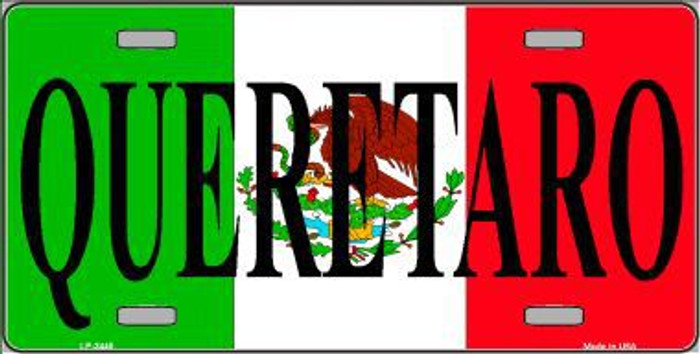 Queretaro Mexico Background Metal Novelty License Plate LP-3445