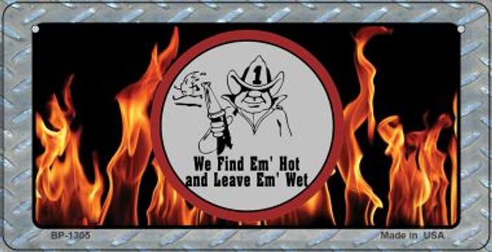 Find Em Hot Novelty Bicycle License Plate BP-1305