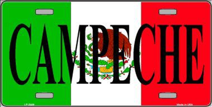 Campeche Mexico Metal Novelty License Plate LP-3449