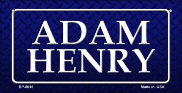 Adam Henry Novelty Bicycle License Plate BP-8016