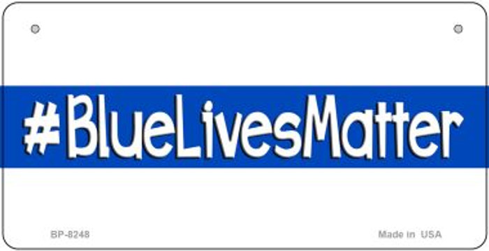 Blue Lives Matter White Novelty Bicycle License Plate BP-8248