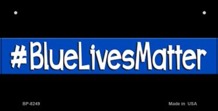 Blue Lives Matter Black Novelty Bicycle License Plate BP-8249