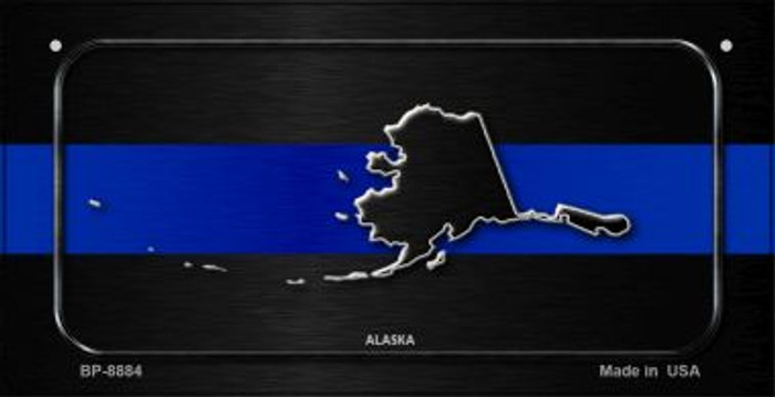 Alaska Thin Blue Line Novelty Bicycle License Plate BP-8884
