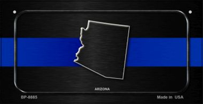 Arizona Thin Blue Line Novelty Bicycle License Plate BP-8885