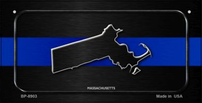 Massachusetts Thin Blue Line Novelty Bicycle License Plate BP-8903