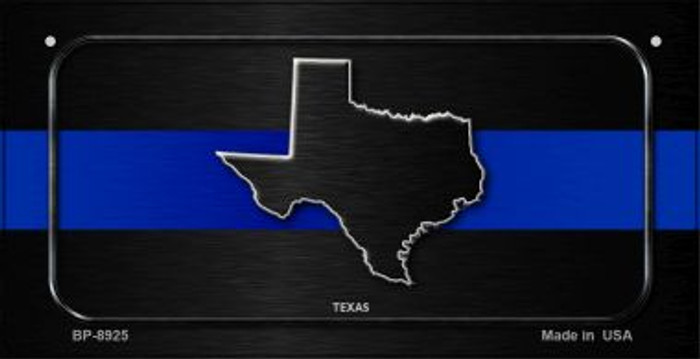 Texas Thin Blue Line Novelty Bicycle License Plate BP-8925
