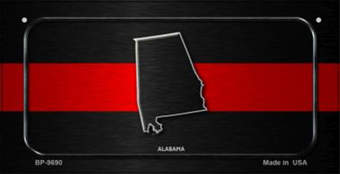 Alabama Thin Red Line Novelty Bicycle License Plate BP-9690