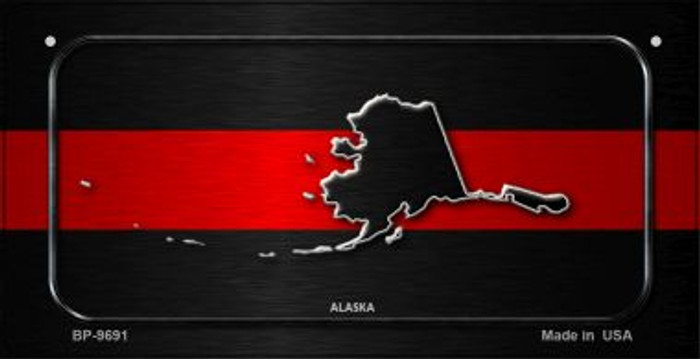 Alaska Thin Red Line Novelty Bicycle License Plate BP-9691