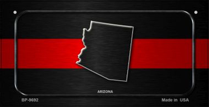 Arizona Thin Red Line Novelty Bicycle License Plate BP-9692
