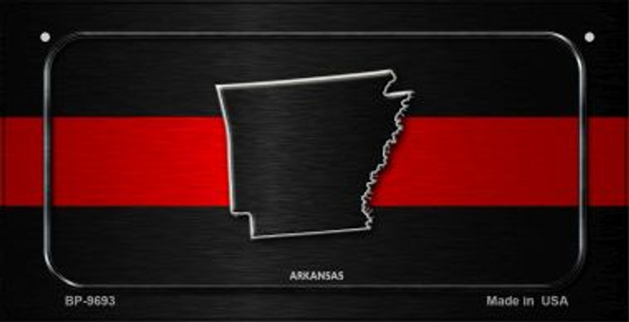 Arkansas Thin Red Line Novelty Bicycle License Plate BP-9693