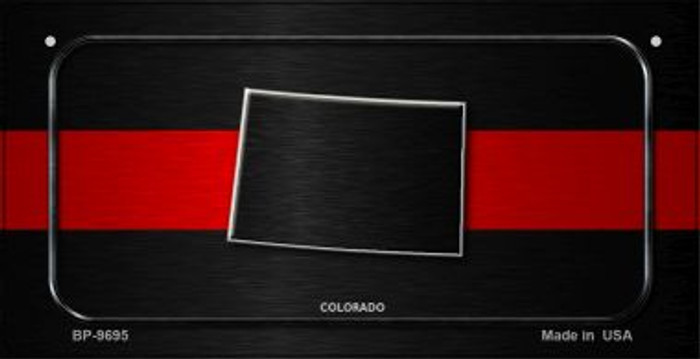 Colorado Thin Red Line Novelty Bicycle License Plate BP-9695