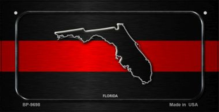 Florida Thin Red Line Novelty Bicycle License Plate BP-9698