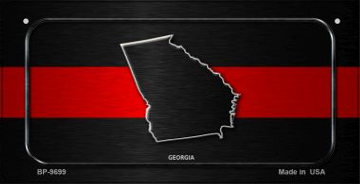 Georgia Thin Red Line Novelty Bicycle License Plate BP-9699