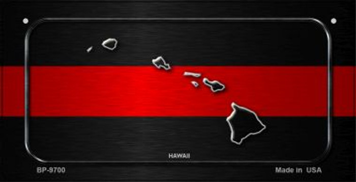 Hawaii Thin Red Line Novelty Bicycle License Plate BP-9700