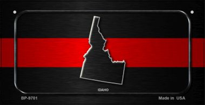 Idaho Thin Red Line Novelty Bicycle License Plate BP-9701