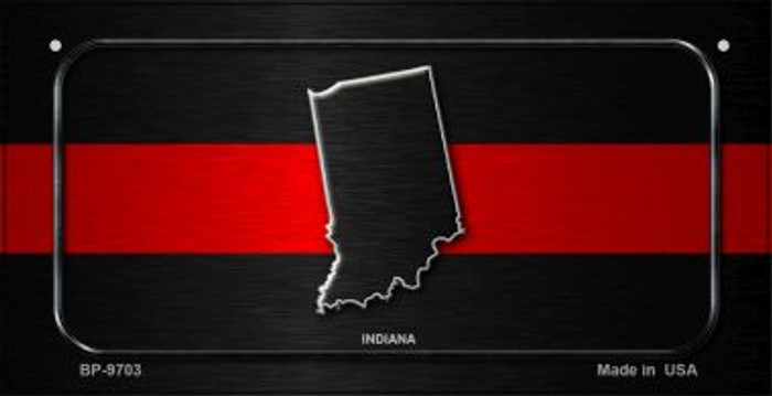 Indiana Thin Red Line Novelty Bicycle License Plate BP-9703