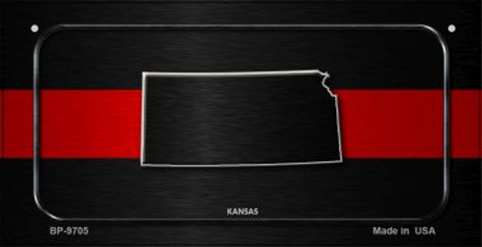 Kansas Thin Red Line Novelty Bicycle License Plate BP-9705