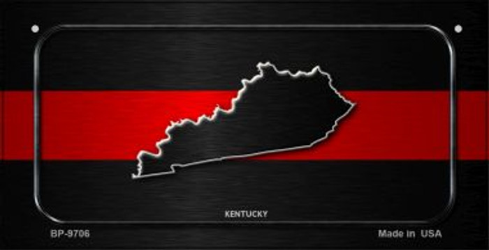 Kentucky Thin Red Line Novelty Bicycle License Plate BP-9706